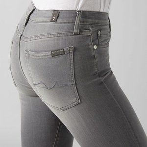 7 For All Mankind High Waist Cropped Skinny